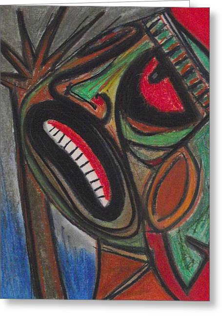 Impacting Pastels Greeting Cards - Lamento Taino Greeting Card by Ismael Rosado