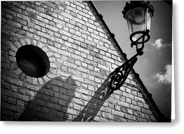 Streetlight Greeting Cards - Lamp with Shadow Greeting Card by Dave Bowman