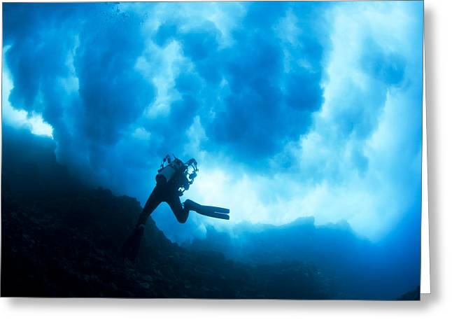 Exciting Surf Greeting Cards - Lanai Diver Greeting Card by Dave Fleetham - Printscapes