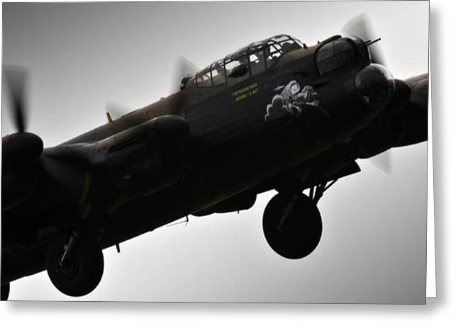 Fighters Greeting Cards - Lancaster Greeting Card by Angel  Tarantella