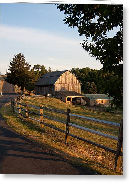 Lancaster Fine Arts Greeting Cards - Lancaster County Farm Greeting Card by Jim Finch