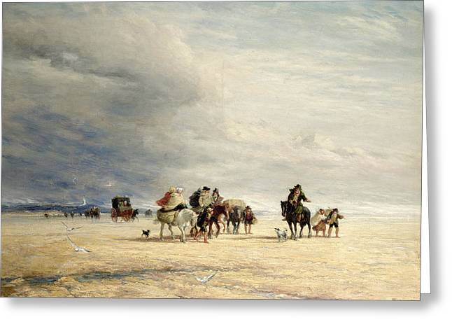 Lancasters Greeting Cards - Lancaster Sands Greeting Card by David Cox
