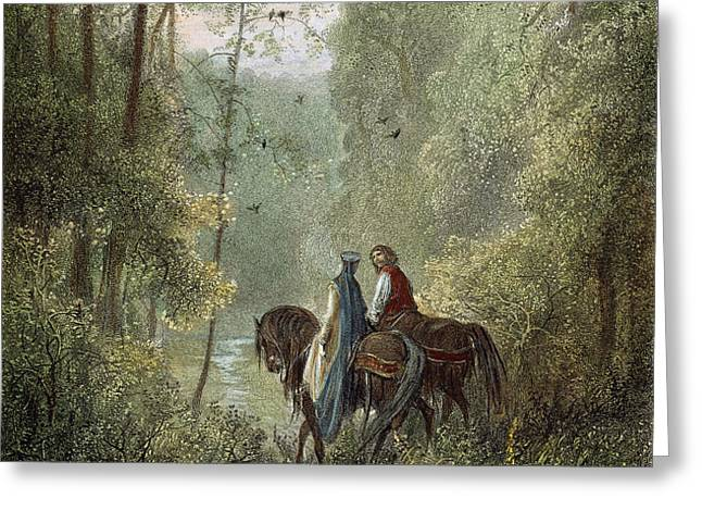LANCELOT & GUINEVERE Greeting Card by Granger