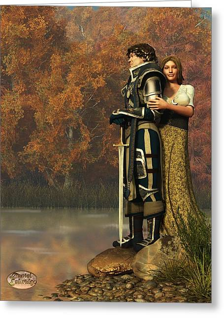 Lancelot And Guinevere Greeting Card by Daniel Eskridge