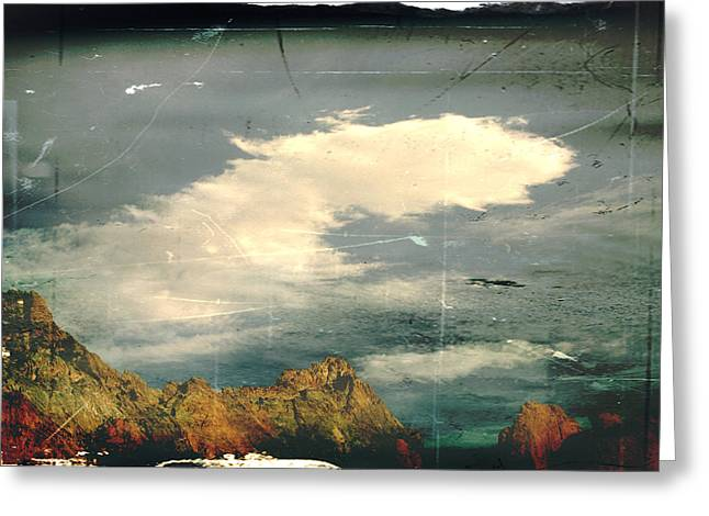 Rocky Mountains Greeting Cards Greeting Cards - Land meets sky Greeting Card by Toni Hopper