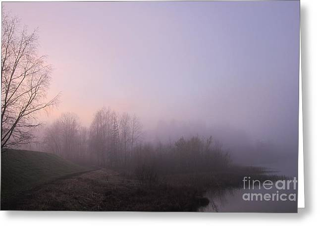 Michelle Bergersen Greeting Cards - Land of mist and legend Greeting Card by Michelle Meer