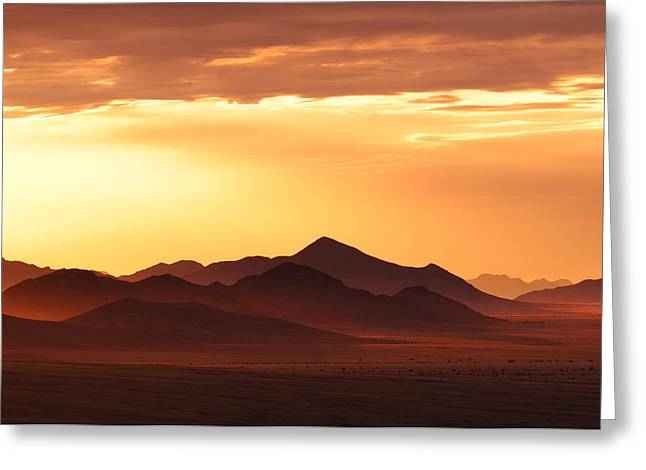 Land Of Sand Greeting Card by Christian Heeb