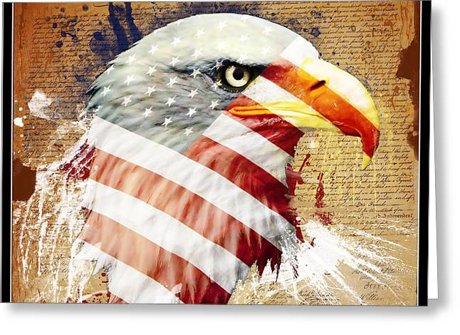 Independance Greeting Cards - Land Of The Free Greeting Card by Robert  Adelman