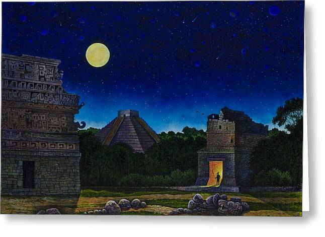 Land Of The Maya Greeting Card by Michael Frank