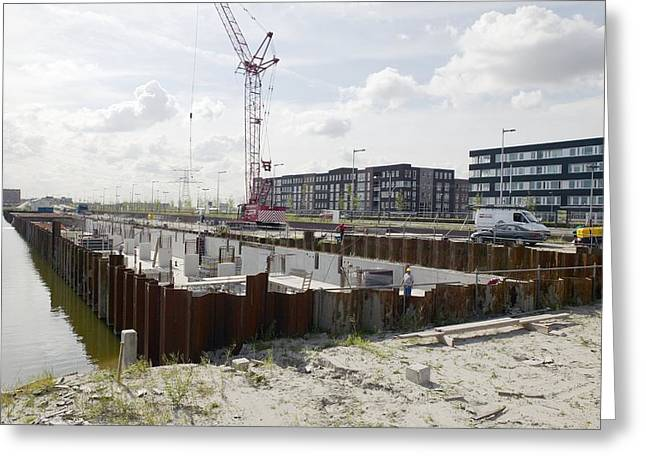 Land Reclamation Greeting Cards - Land Reclamation, Netherlands Greeting Card by Colin Cuthbert