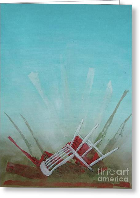 Chairs Mixed Media Greeting Cards - Landed Greeting Card by Paul OBrien