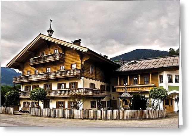 Landhaus Hofermuehle - Maria Alm  Greeting Card by Juergen Weiss