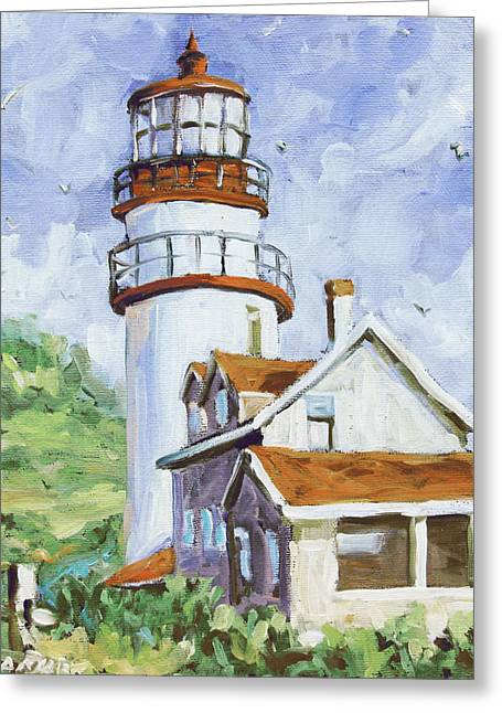 Lighthouse By The Ocean Greeting Cards - Lands End 02 by Prankearts Greeting Card by Richard T Pranke