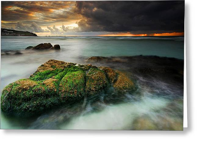 Lands End Greeting Card by John Chivers