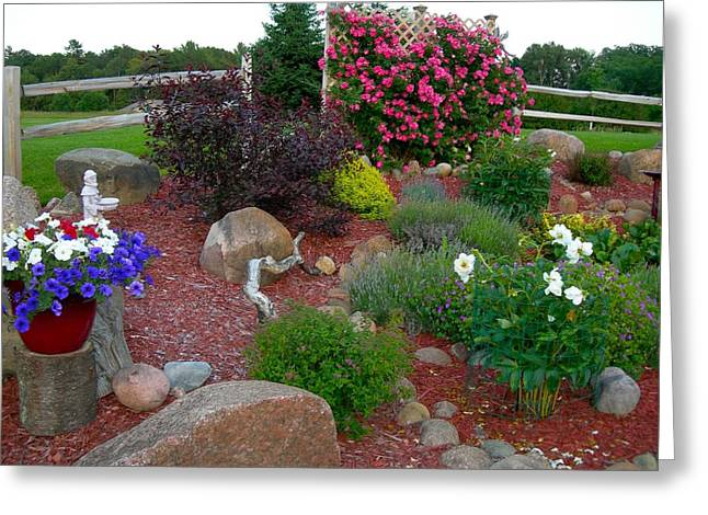Garden Statuary Greeting Cards - Landscape 101 Greeting Card by Randy Rosenberger