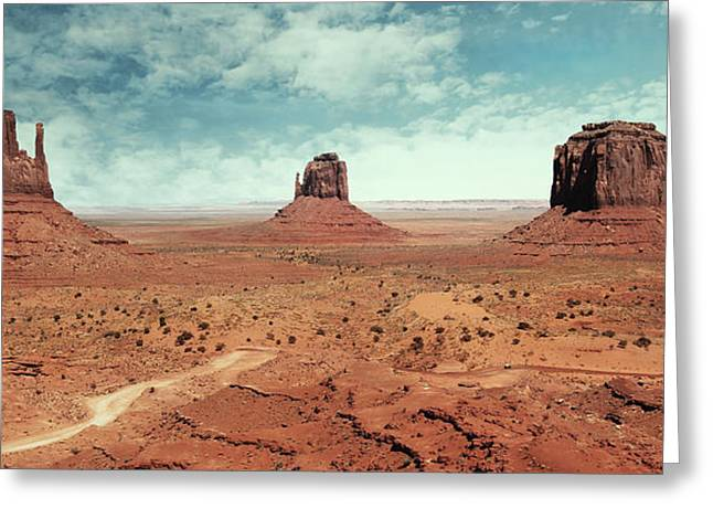 Geology Photographs Greeting Cards - Landscape at Monument Valley Greeting Card by Isabel Poulin