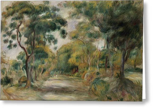 Tall Trees Greeting Cards - Landscape at Noon Greeting Card by  Pierre Auguste Renoir
