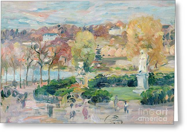 Paysages Greeting Cards - Landscape in Tours Greeting Card by Berthe Morisot