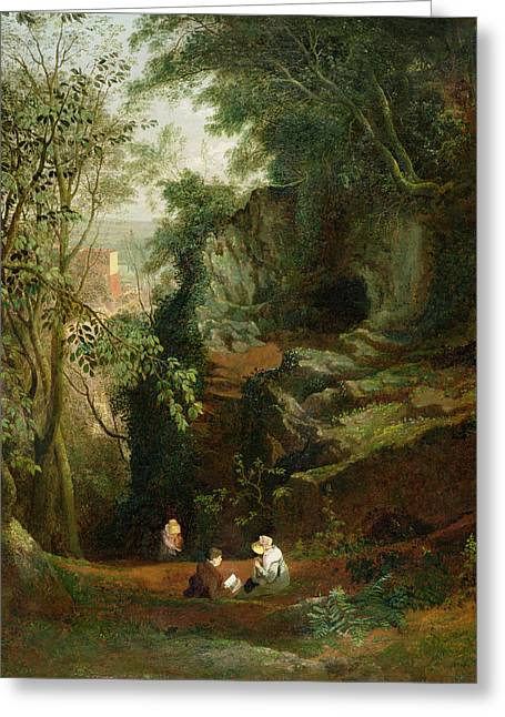Francis Greeting Cards - Landscape near Clifton Greeting Card by Francis Danby