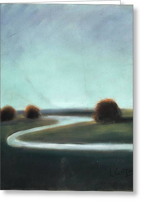 Creek Pastels Greeting Cards - Landscape No 3 Greeting Card by L Cooper