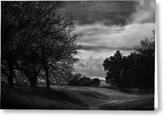 Black White Photography Prints Greeting Cards - Landscape on a Winters Moring Greeting Card by Karen Musick