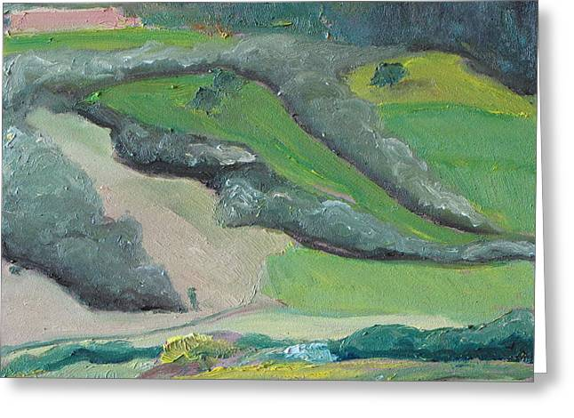 Patch Work Greeting Cards - Landscape PatchWork no1 Greeting Card by Francois Fournier