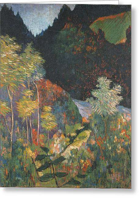 Paul Gauguin Greeting Cards - Landscape Greeting Card by Paul Gauguin