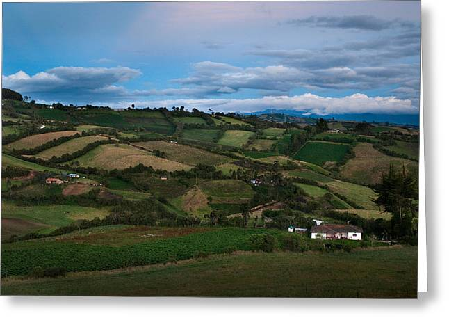Landscape Pupiales Region. Department Of Narino.republic Of Bolivia. Greeting Card by Eric Bauer