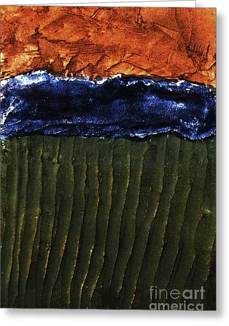 Sienna Greeting Cards - Landscape Textures Greeting Card by Marsha Heiken