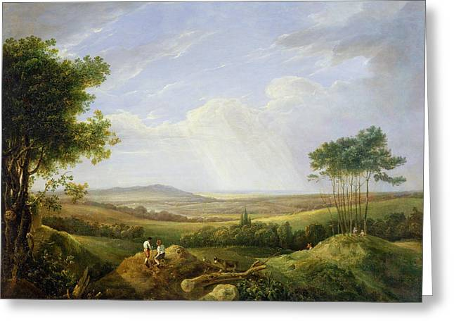 31 Greeting Cards - Landscape with Figures  Greeting Card by Captain Thomas Hastings
