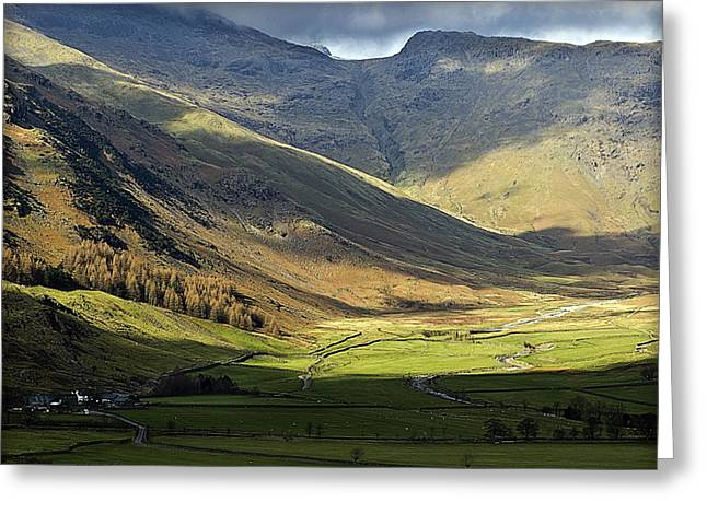 Hartlepool Greeting Cards - Langdale Greeting Card by Barry Hayton