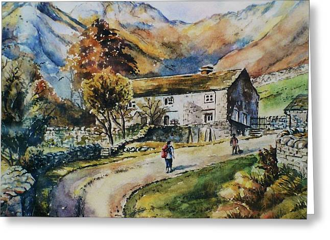 Rambling Greeting Cards - Langdale Pikes Greeting Card by Andrew Read