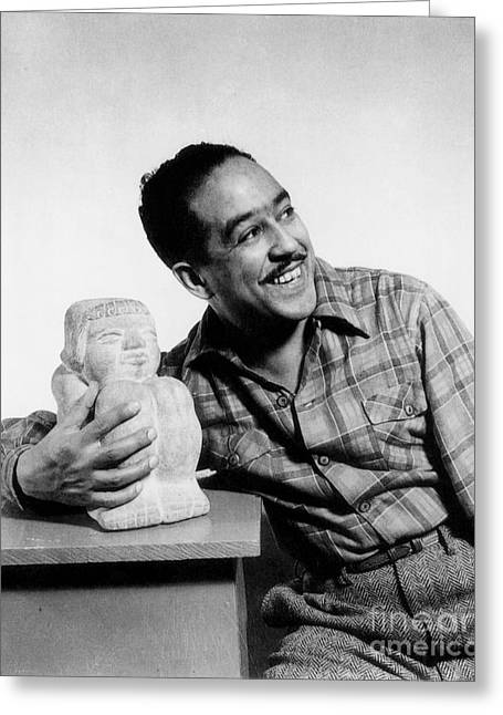 African-american Greeting Cards - Langston Hughes (1902-1967) Greeting Card by Granger