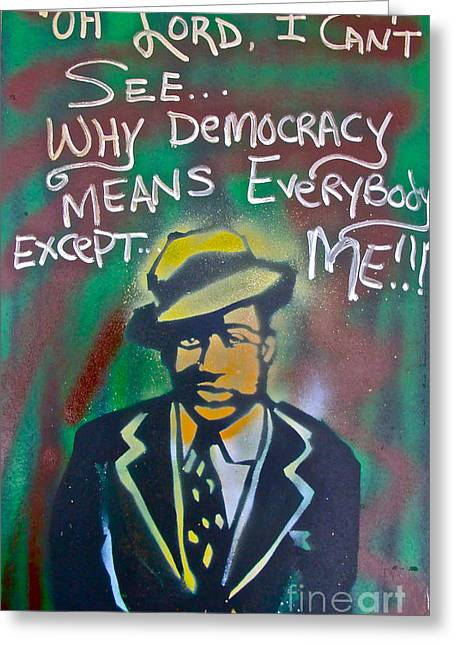 First Amendment Greeting Cards - Langston Hughes Greeting Card by Tony B Conscious