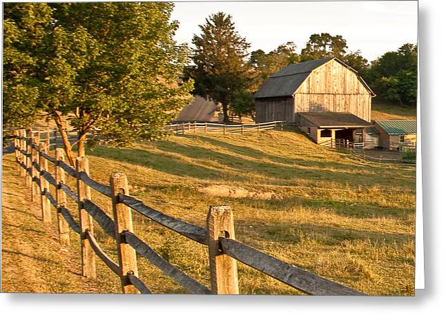 Lancaster Fine Arts Greeting Cards - Langus Farm Greeting Card by Jim Finch