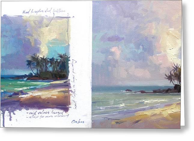 Laniakea Beach Greeting Cards - Laniakea Studies Greeting Card by Richard Robinson