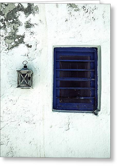 Old Structure Greeting Cards - Lantern And Window Greeting Card by Joana Kruse