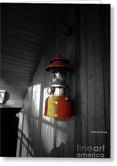 Propane Greeting Cards - Lantern Greeting Card by Cheryl Young