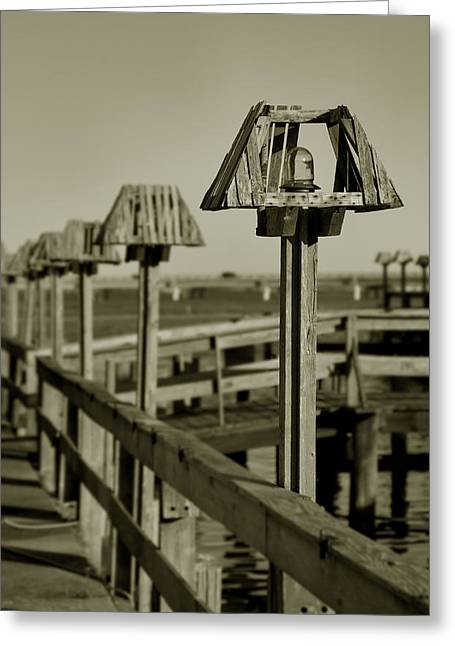 Main Street Greeting Cards - Lanterns Lined Up Greeting Card by Steven Ainsworth