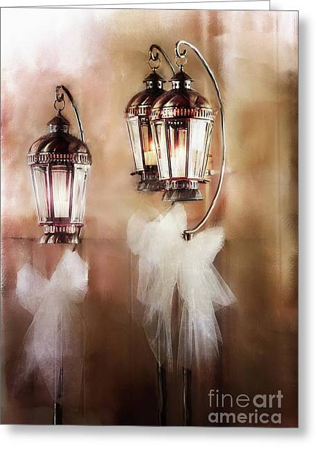 Candle Stand Greeting Cards - Lanterns Greeting Card by Stephanie Frey