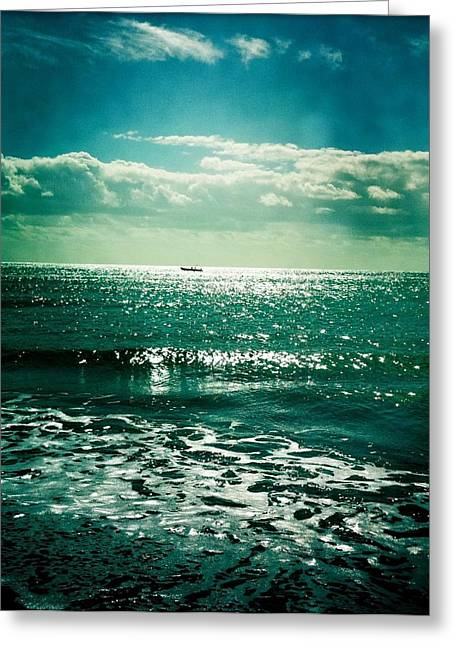 Lanzarote Seascape Greeting Card by Usman Ali