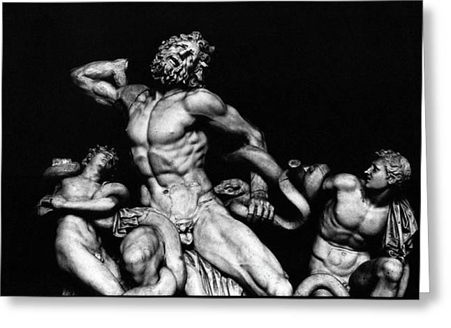 Snake Priest Greeting Cards - Laocoon and His Sons aka Gruppo del Laocoonte Greeting Card by Michael Fiorella