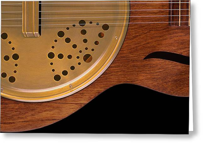 Resonator Greeting Cards - Lap Guitar I Greeting Card by Mike McGlothlen