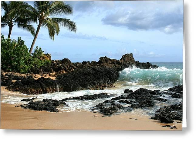 Pacific Ocean Prints Greeting Cards - Lapiz Lazuli Stone Aloha Paako Aviaka Greeting Card by Sharon Mau