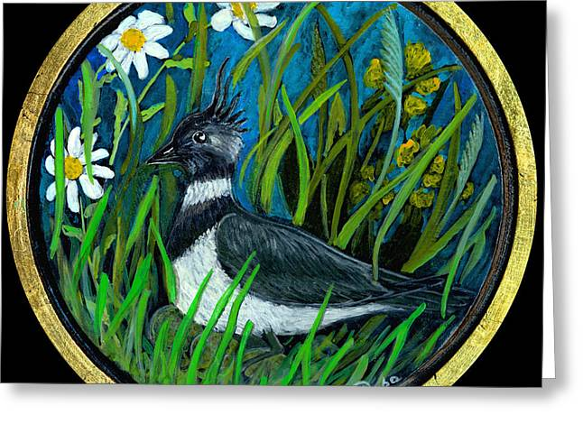 Anna Maciejewska-dyba Greeting Cards - Lapwing Greeting Card by Anna Folkartanna Maciejewska-Dyba