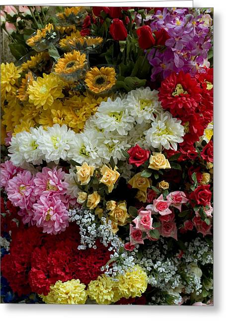 Michele Greeting Cards - Large Bunch Of Colorful Flowers Greeting Card by Todd Gipstein
