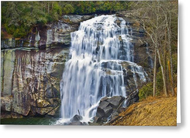 Large Waterfall Greeting Card by Susan Leggett