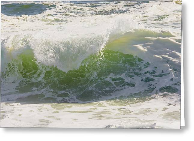Maine Shore Greeting Cards - Large Waves On The Coast Of Maine Greeting Card by Keith Webber Jr