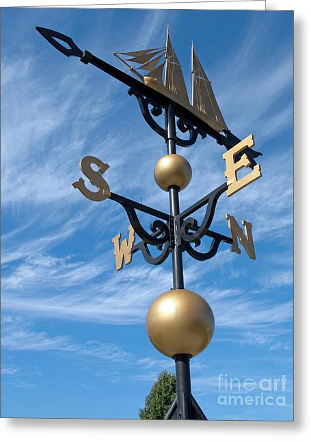Weathervane Greeting Cards - Largest Weathervane Greeting Card by Ann Horn