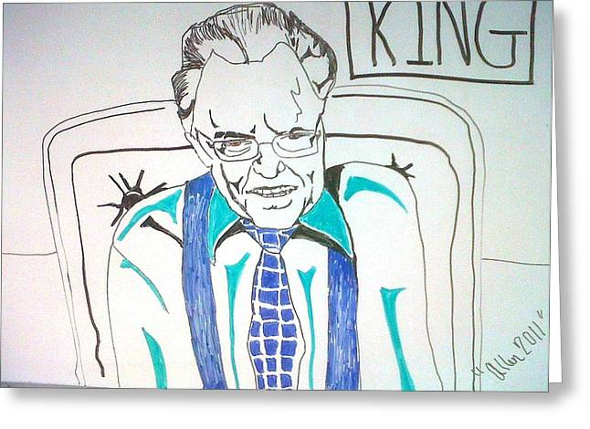 Larry King Greeting Card by Allen Walters
